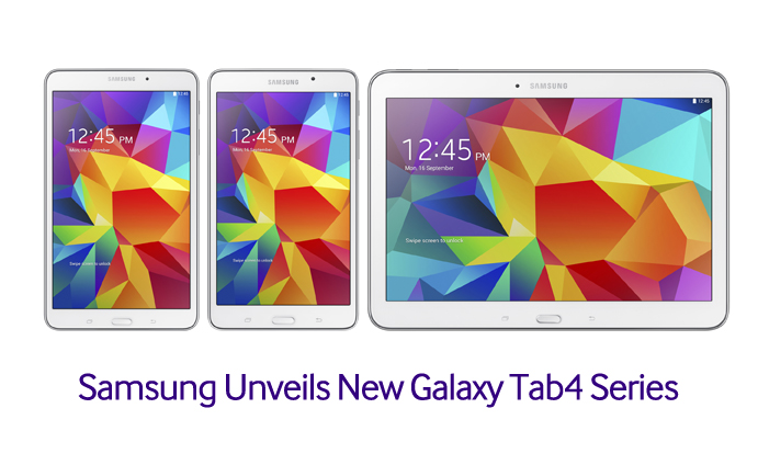 Samsung Unveils New Galaxy Tab4 Series