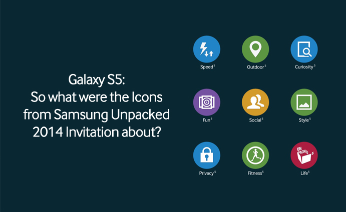 Galaxy S5 So what were the Icons from Samsung Unpacked 2014 Invitation about