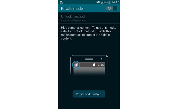 Private Mode 5 Kako uključiti Private Mode za očuvanje privatnosti na Galaxy S5
