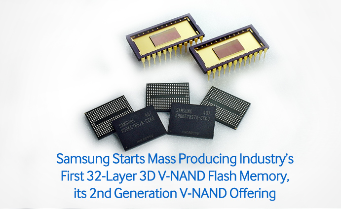 Samsung-Starts-Mass-Producing-Industry's-First-32-Layer-3D-V-NAND-Flash-Memory,-its-2nd-Generation-V-NAND-Offering
