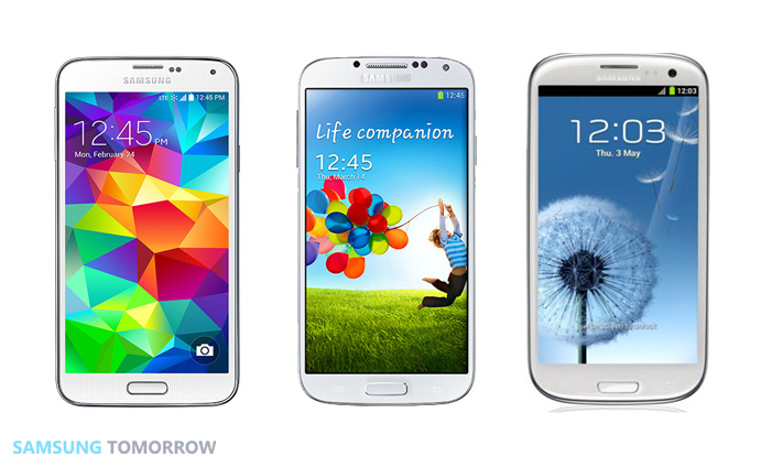 The Key Visuals of the Galaxy S Series