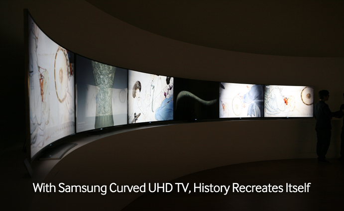 With Samsung Curved UHD TV, History Recreates Itself