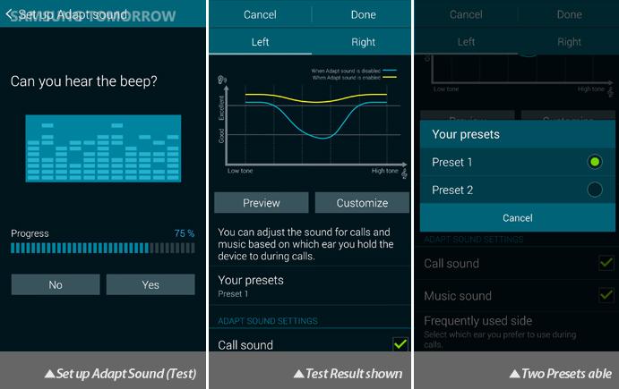 Galaxy S5 Audio: Adapt Sound (Test)