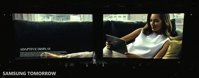 Adaptive Display of Galaxy Tab S
