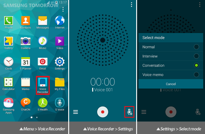 Galaxy S5 Audio: Directional Voice Recording