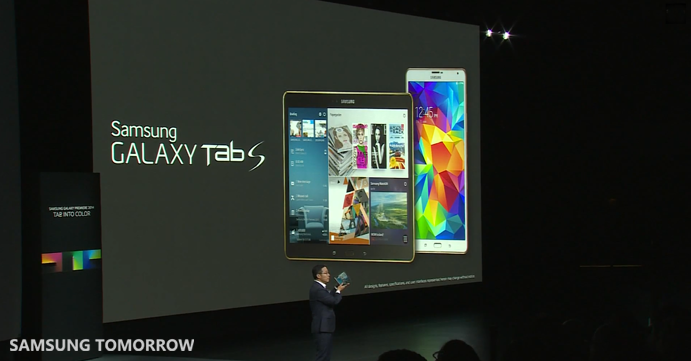 Introducing the Galaxy Tab S 1