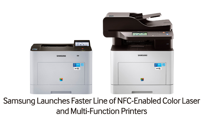 Samsung Launches Faster Line of NFC-Enabled Color Laser and Multi-Function Printers