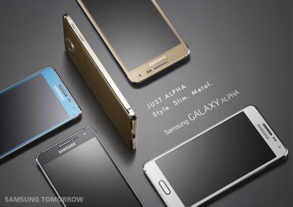 GALAXY ALPHA_KV_Group shot_Gold_Black_White_Blue_Horizontal