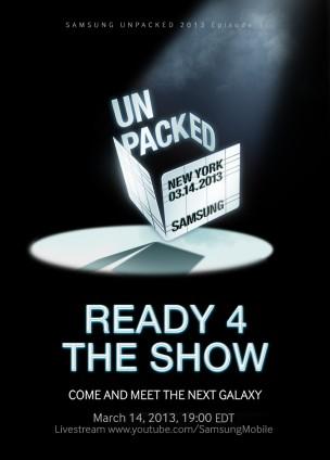 Invitation of Samsung Unpacked 2013 Episode 1