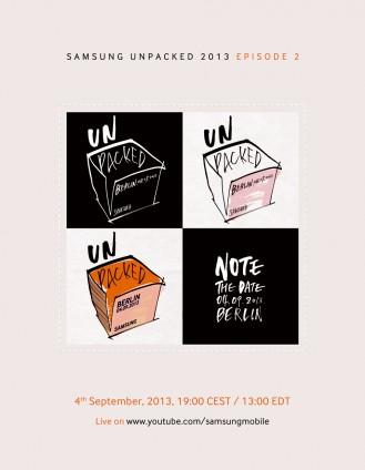 Invitation of Samsung Unpacked 2013 Episode 2