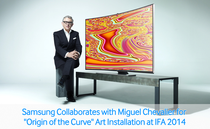 "Samsung Collaborates with Miguel Chevalier for ""Origin of the Curve"" Art Installation at IFA 2014"