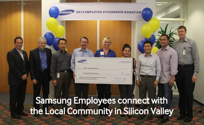 Samsung Employees connect with the Local Community in Silicon Valley