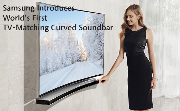 Samsung Introduces World's First TV-Matching Curved Soundbar