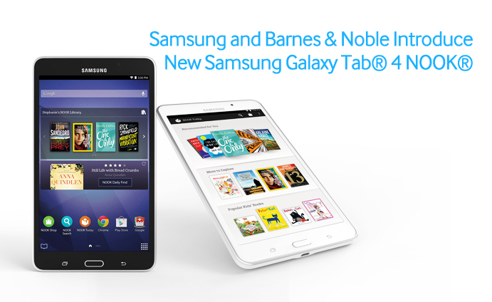 Samsung and Barnes & Noble Introduce New Samsung Galaxy Tab® 4 NOOK®