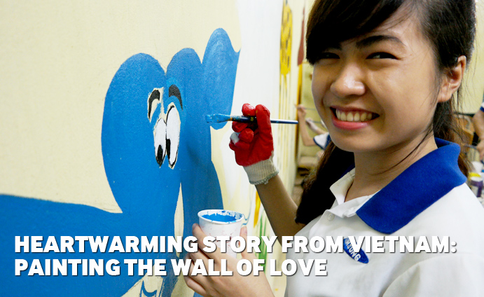 Heartwarming Story from Vietnam - Painting the Wall of Love