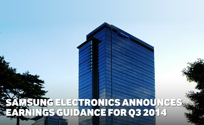 Samsung Electronics Announces Earnings Guidance for Q3 2014