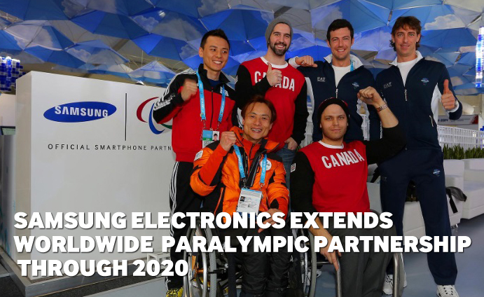 Samsung Electronics Extends Worldwide Paralympic Partnership through 2020