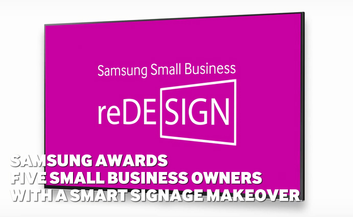 Samsung Awards Five Small Business Owners With a Smart Signage Makeover