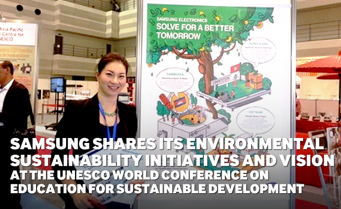 Samsung shares its environmental sustainability initiatives and vision at the UNESCO World Conference on Education for Sustainable Development