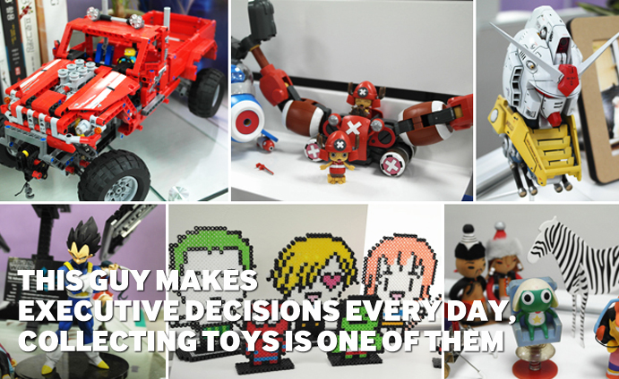 This Guy makes Executive Decisions Every day, Collecting Toys is One of Them