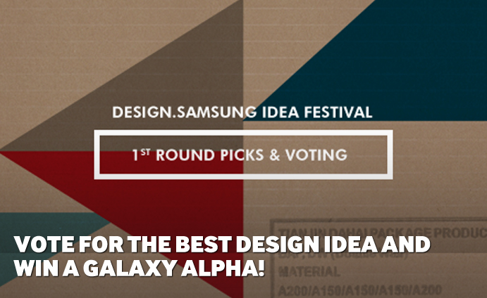 Vote for the Best Design Idea and Win a Galaxy Alpha!
