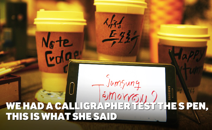 WE HAD A CALLIGRAPHER TEST THE S PEN, THIS IS WHAT SHE SAID