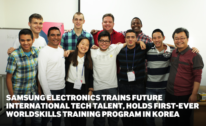 Samsung Electronics Trains Future International Tech Talent,  Holds First-Ever WorldSkills Training Program in Korea