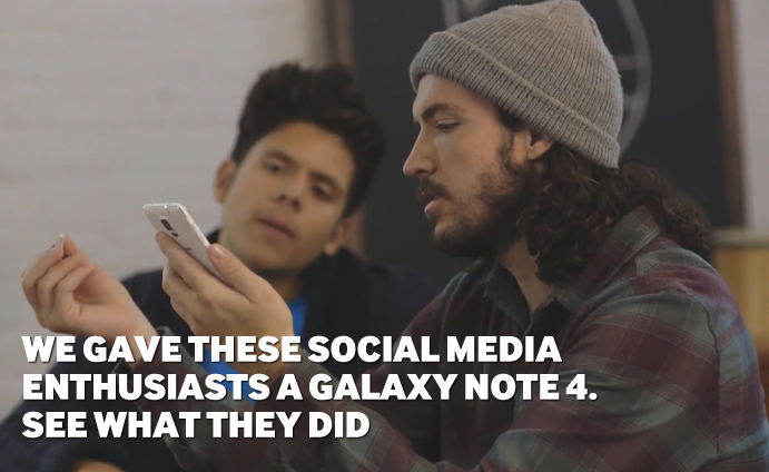 We Gave These Social Media Enthusiasts a Galaxy Note 4. See What They Did