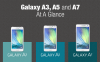 [Infographic] Galaxy A3, A5, and A7 At A Glance