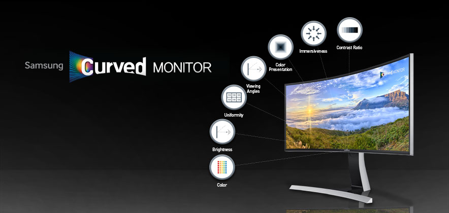 [Infographic] Samsung Curved Monitor, How it Provides a Comfortable Viewing Experience
