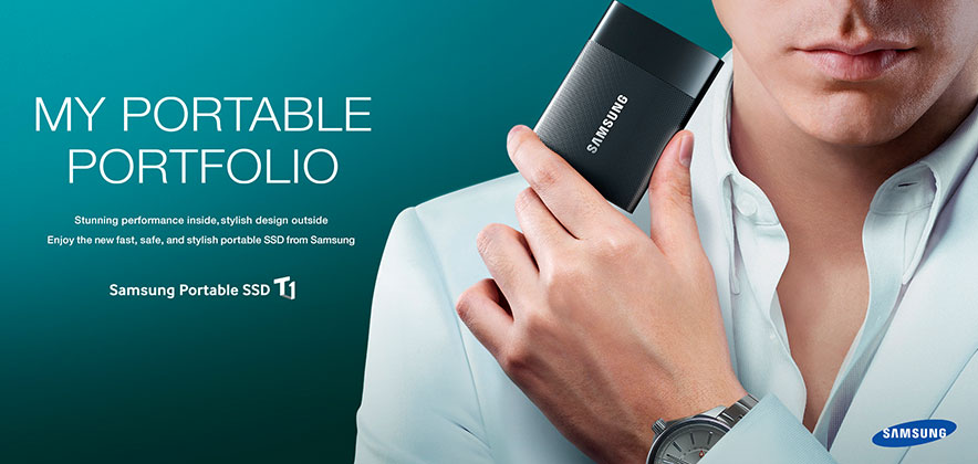 Samsung Electronics Portable SSD T1 Leads  the Industry in SSD Design Standards