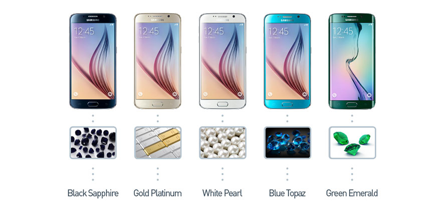 [Infographic] All the Colors of Samsung Mobile