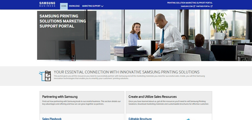 Samsung Launches Marketing Support Portal for Printing Solutions  to Help Channel Partners Grow